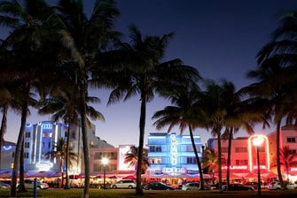 Nachtleben am Ocean Drive in South Beach