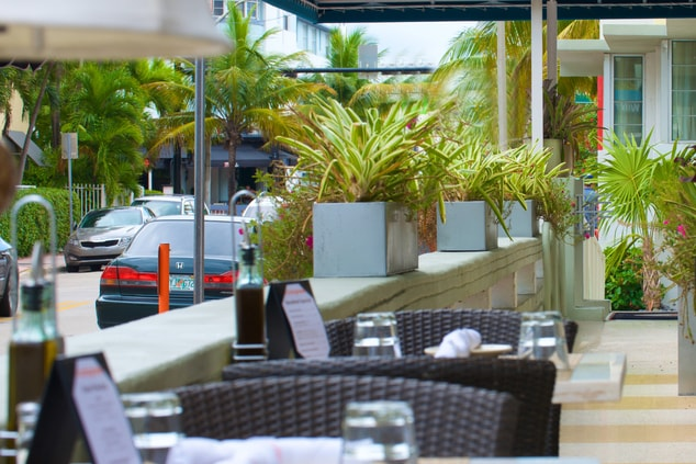 South Beach outdoor dining