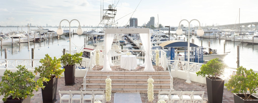 miami outdoor destination wedding venues miami marriott biscayne bay