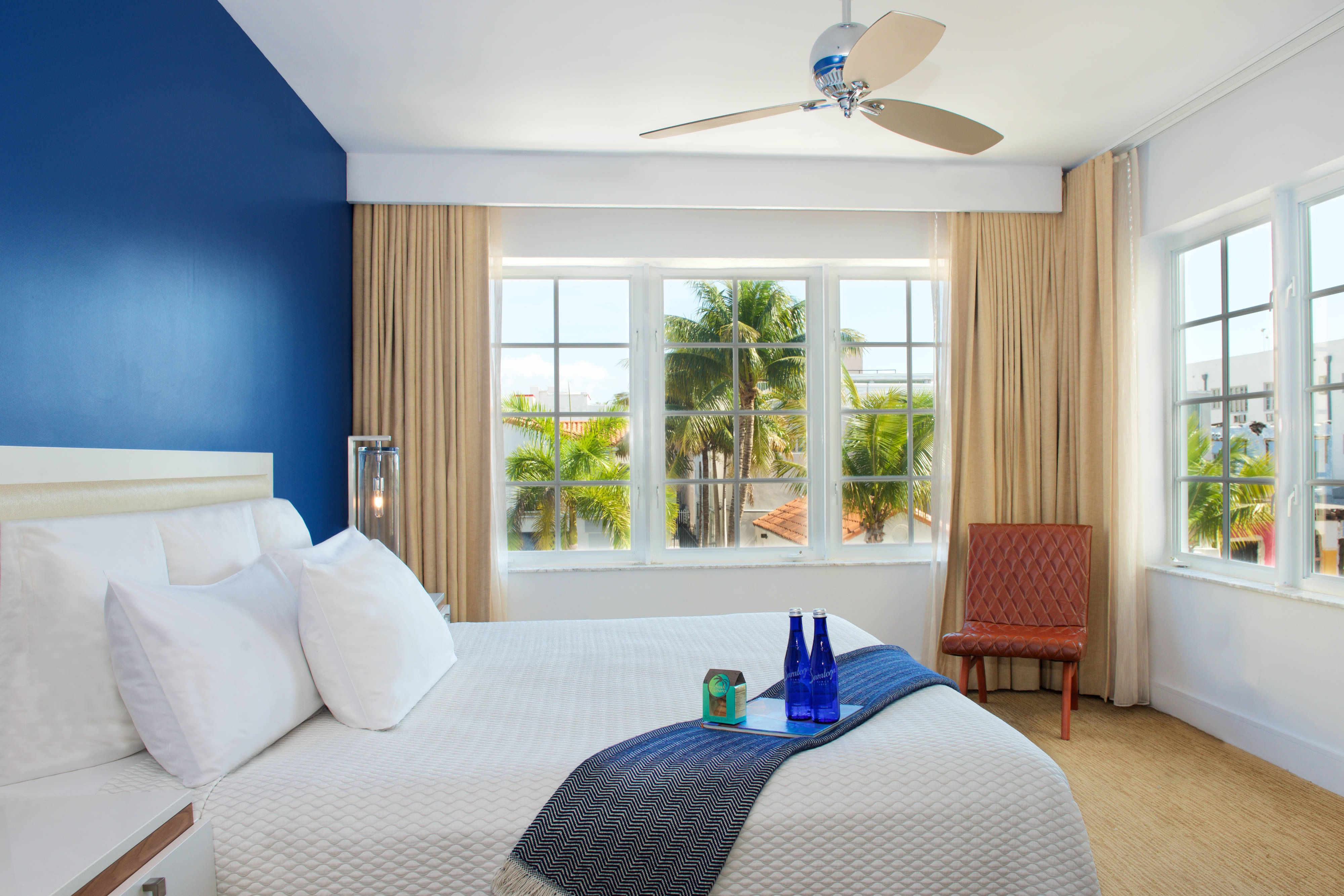 South Beach corner guest room