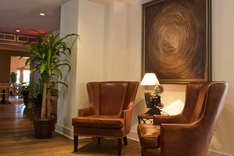 South Beach hotel lobby