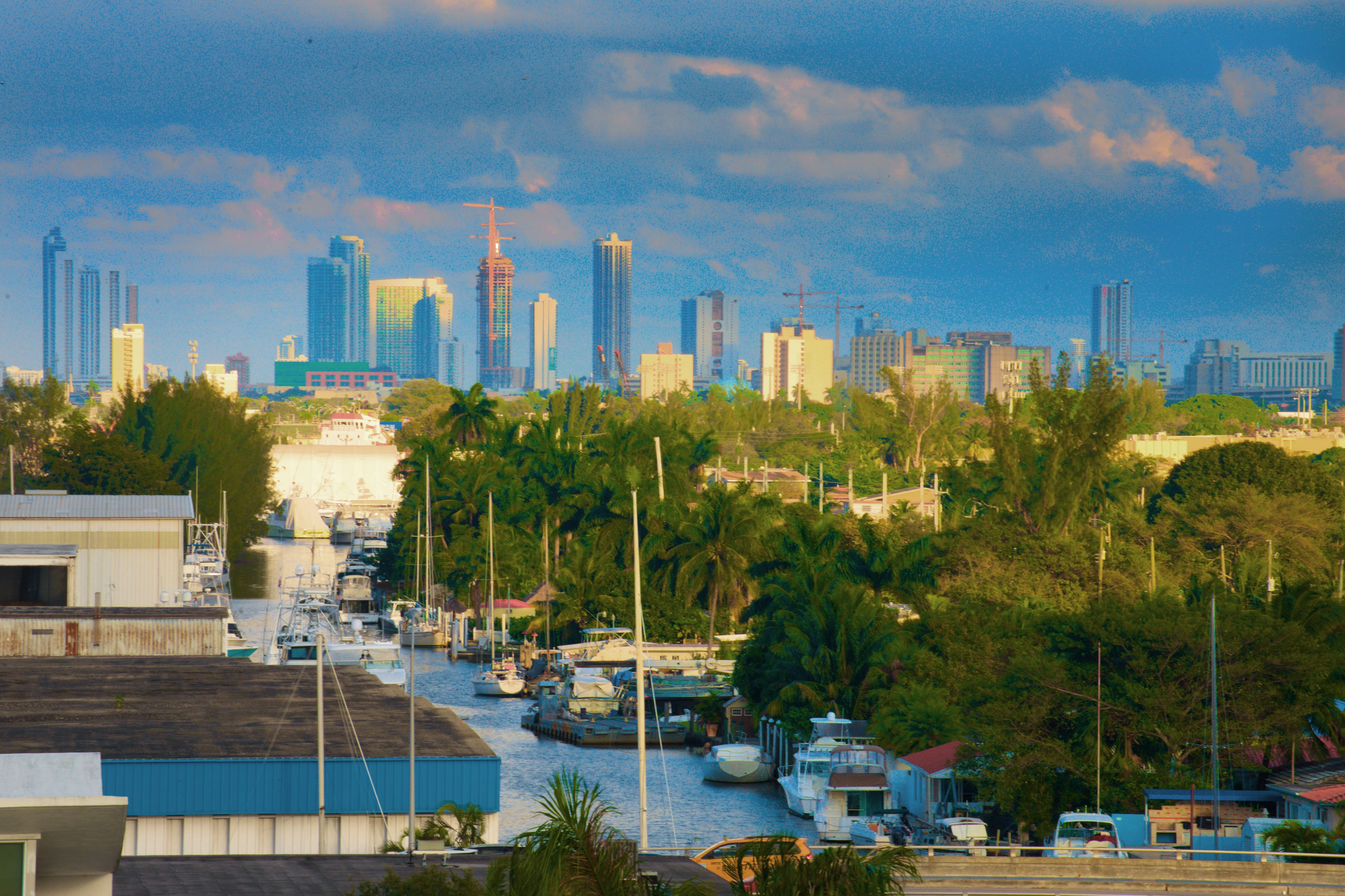 Miami River and DowntownSkyline