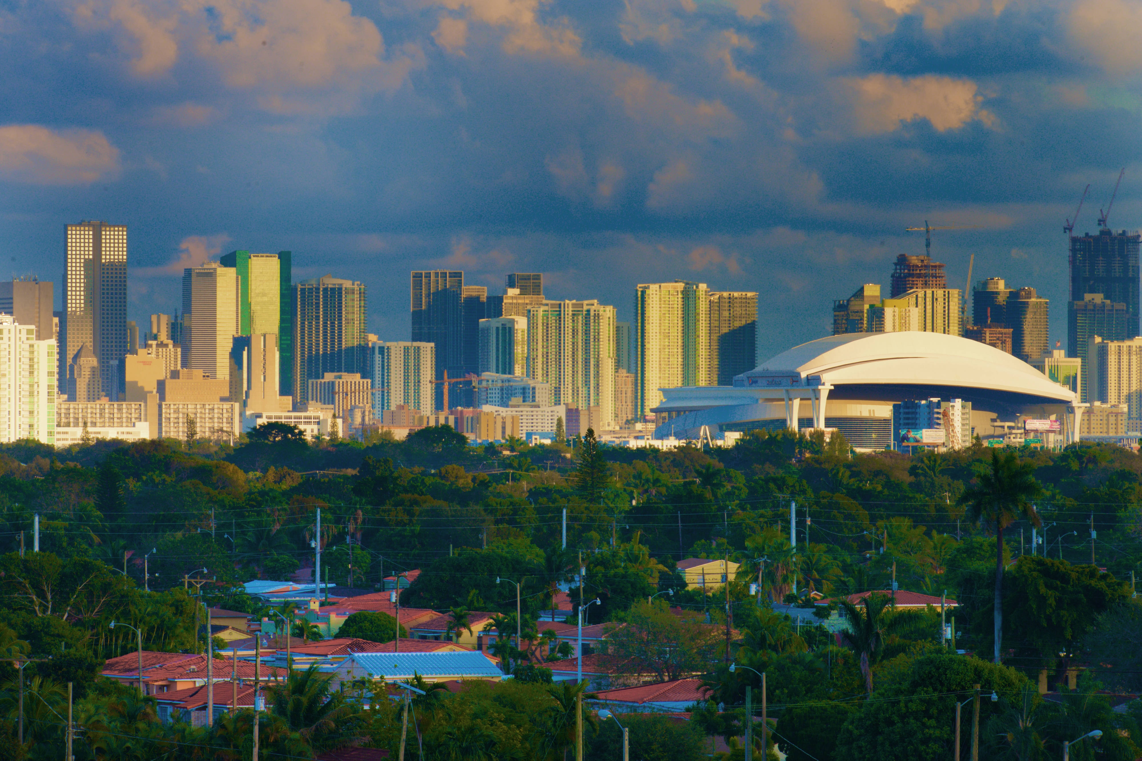 DowntownSkyline and Marlins Park