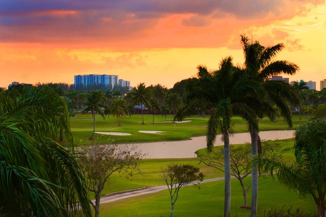 Melreese Golf Course Sunset