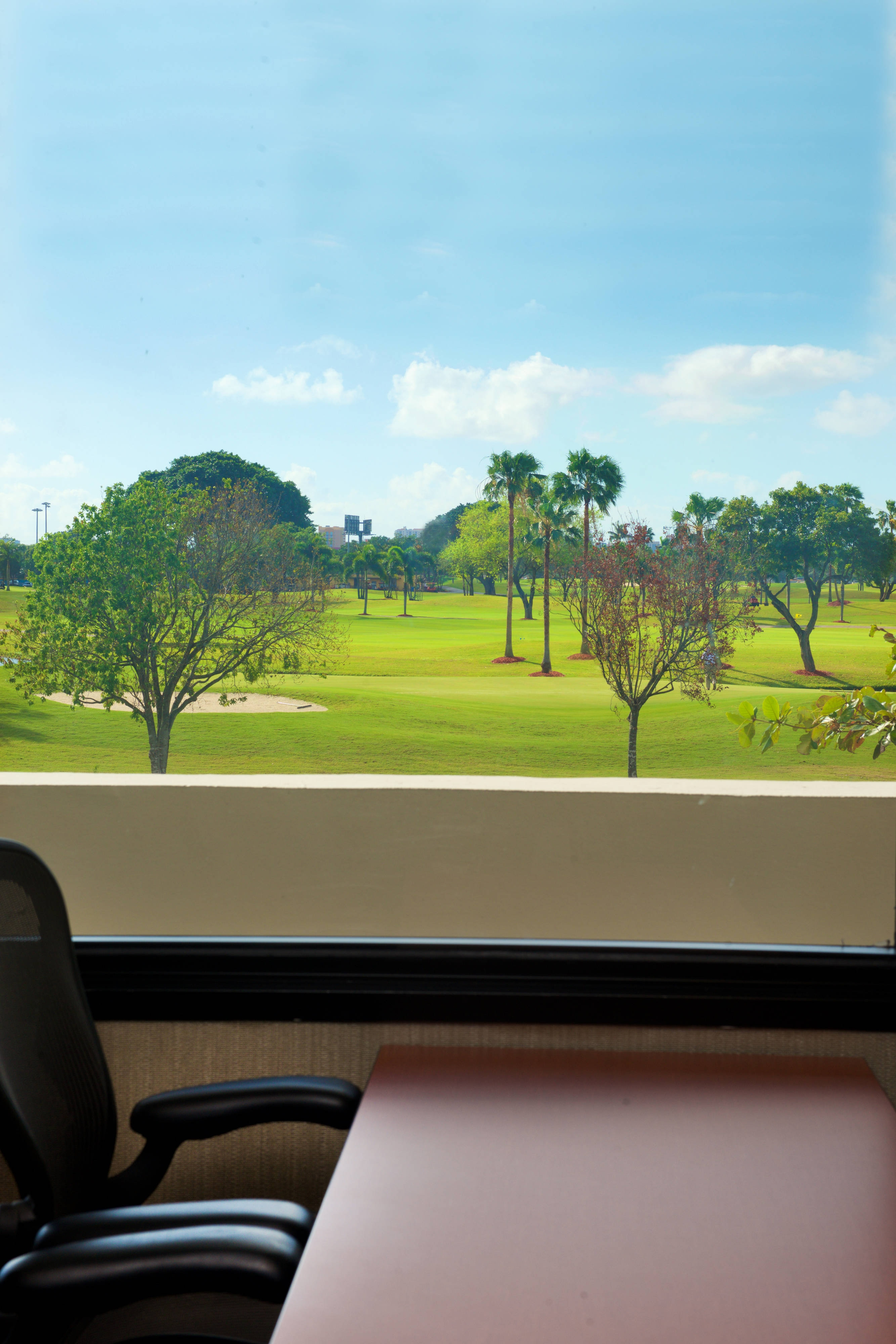 View of Golf Course from California Clipper Meeting Space