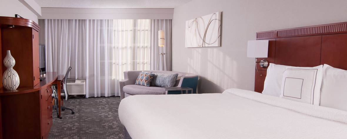 King Guest Room and Soft Seating Area