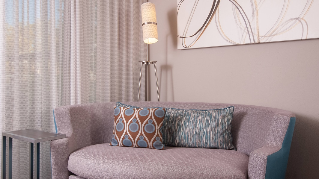 Guest Bedroom Soft Seating Area
