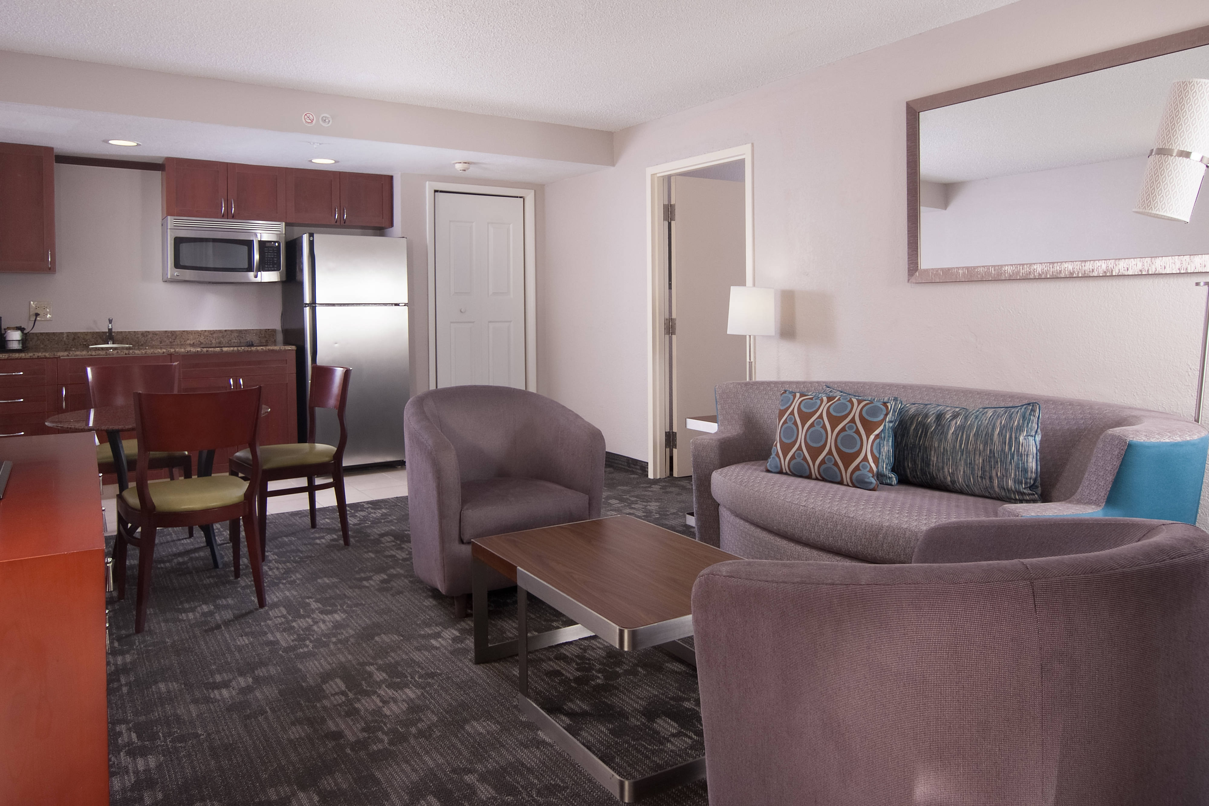 Junior Suite Kitchen and Living Area