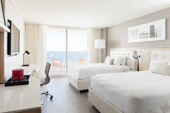 Hotelzimmer am Meer in South Beach