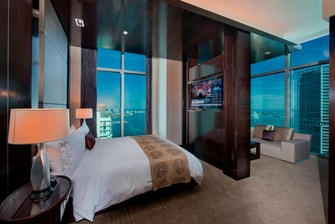 downtown Miami, bay view rooms