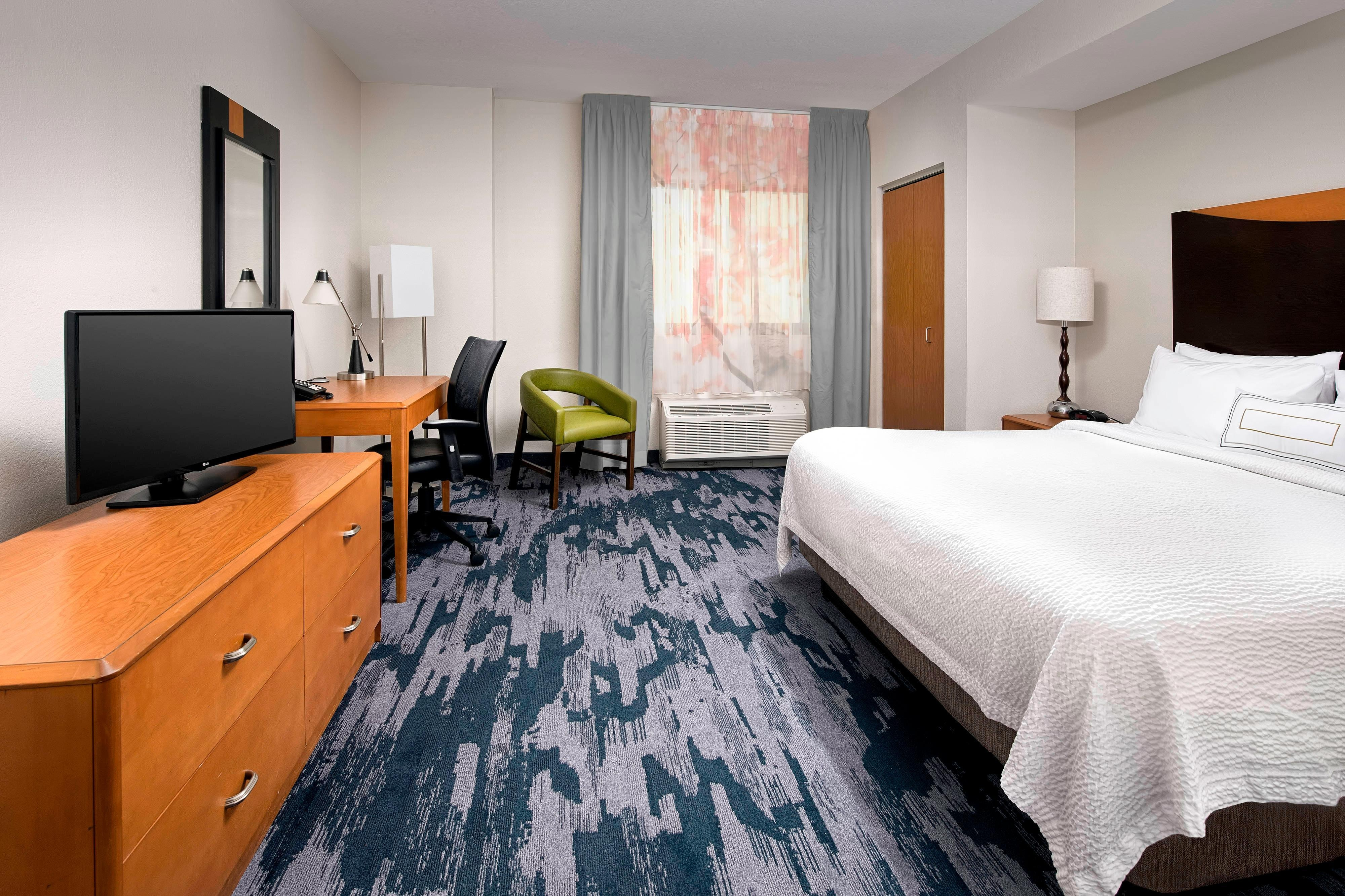 Enjoy the comfort of our standard king room while visiting Miami.