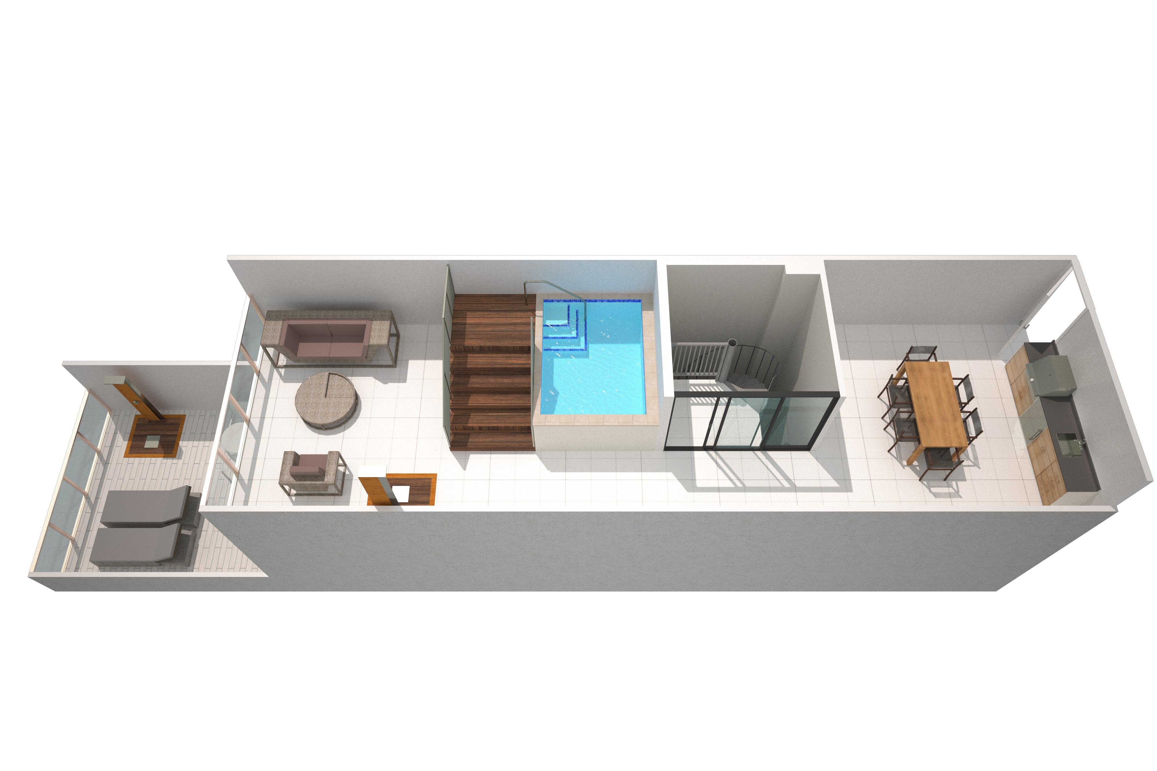 Suite Mega de dos pisos - Primera planta