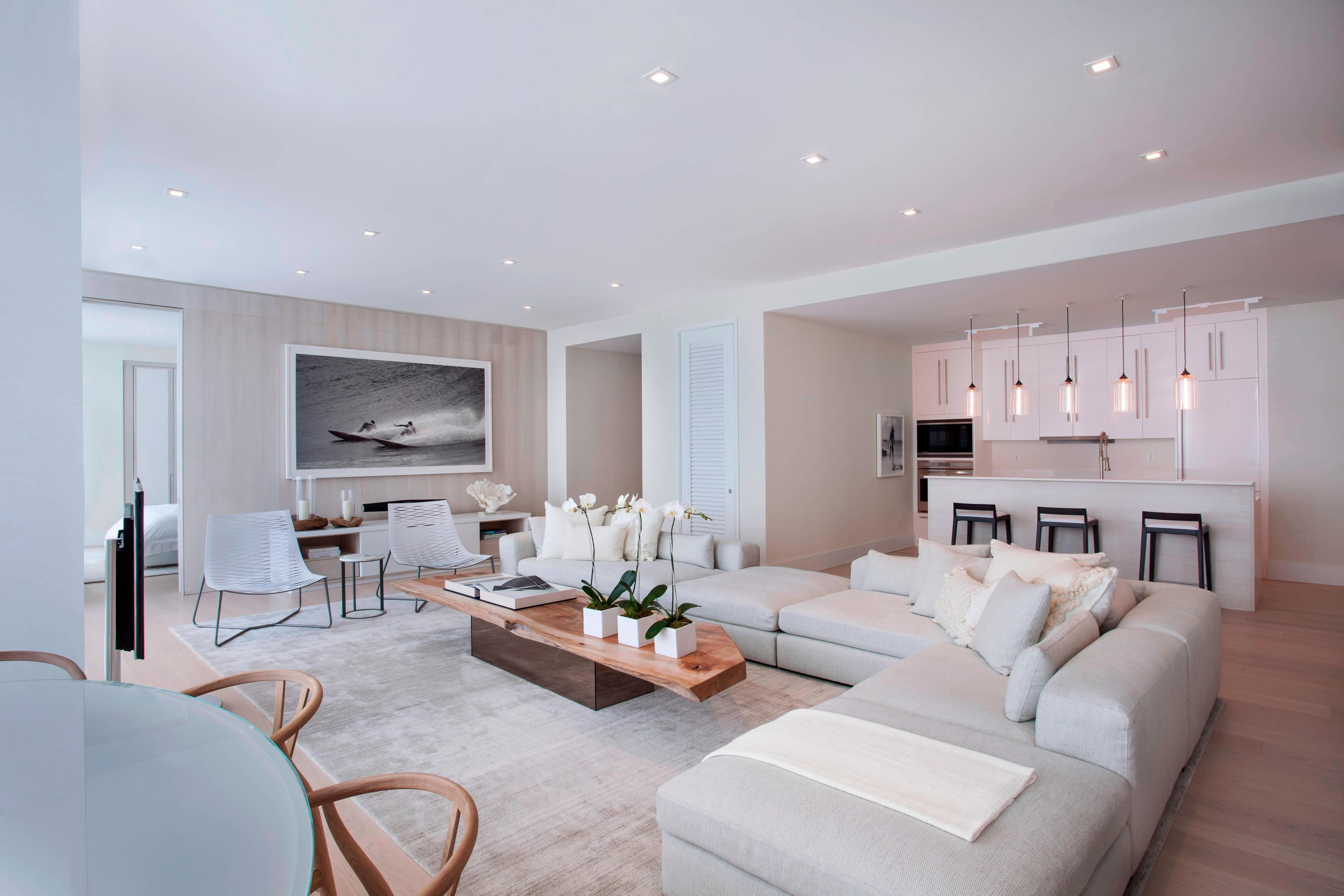 Renovated Penthouse Living Room