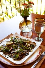 Eggplant Carpaccio with Goat Cheese