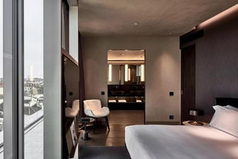 Superior Room Bedroom and Bathroom View