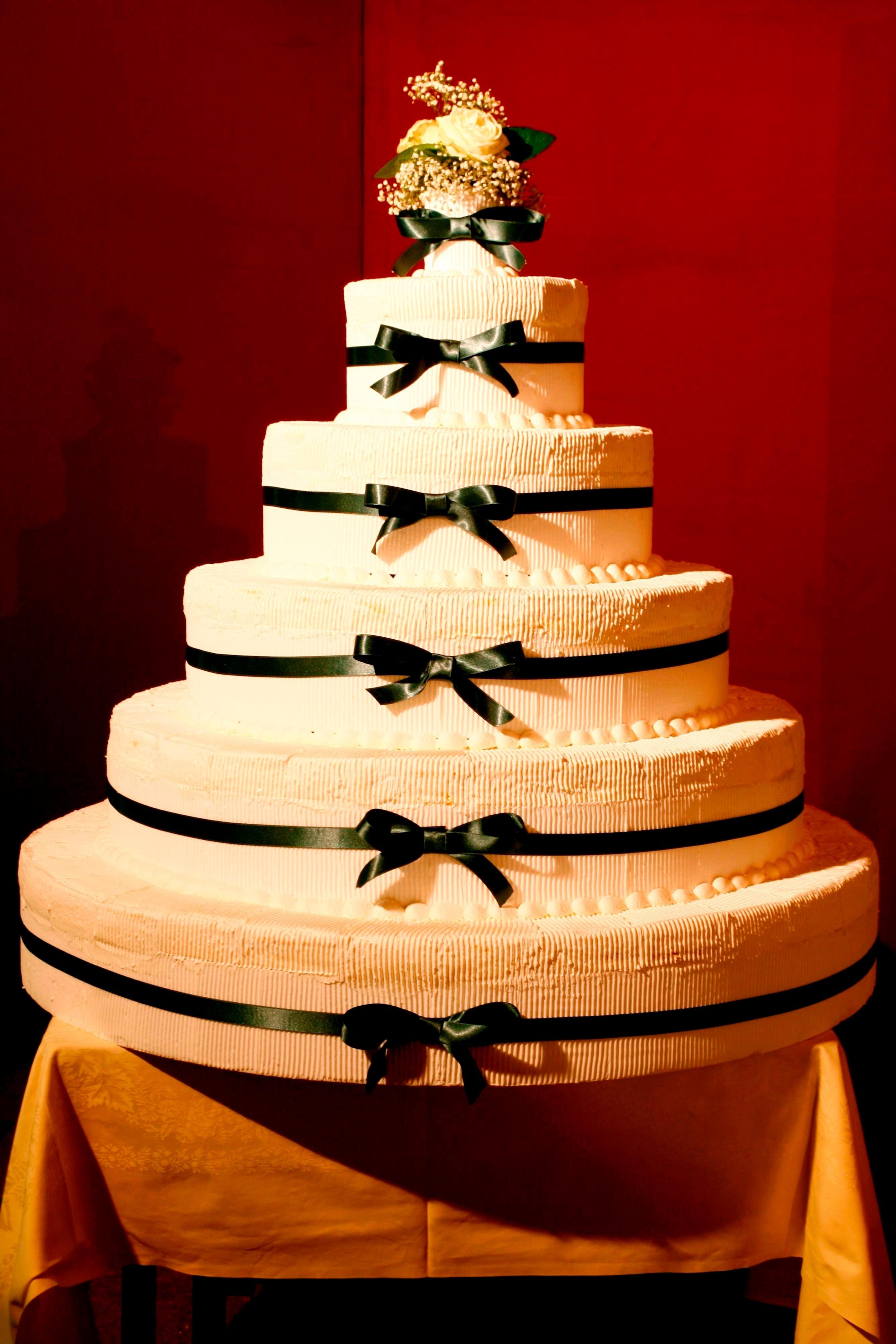 Gâteau de mariage à l'hôtel de Milan