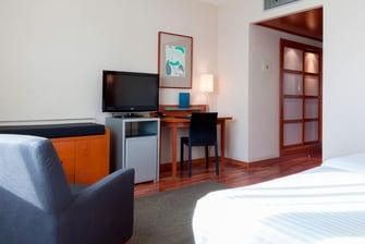 habitaciones con dos camas individuales en hotel de murcia