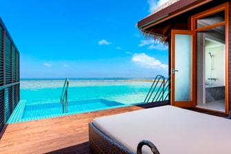 Water Bungalow com piscina