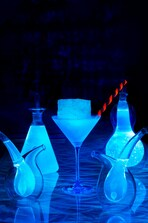 Glowing cocktail