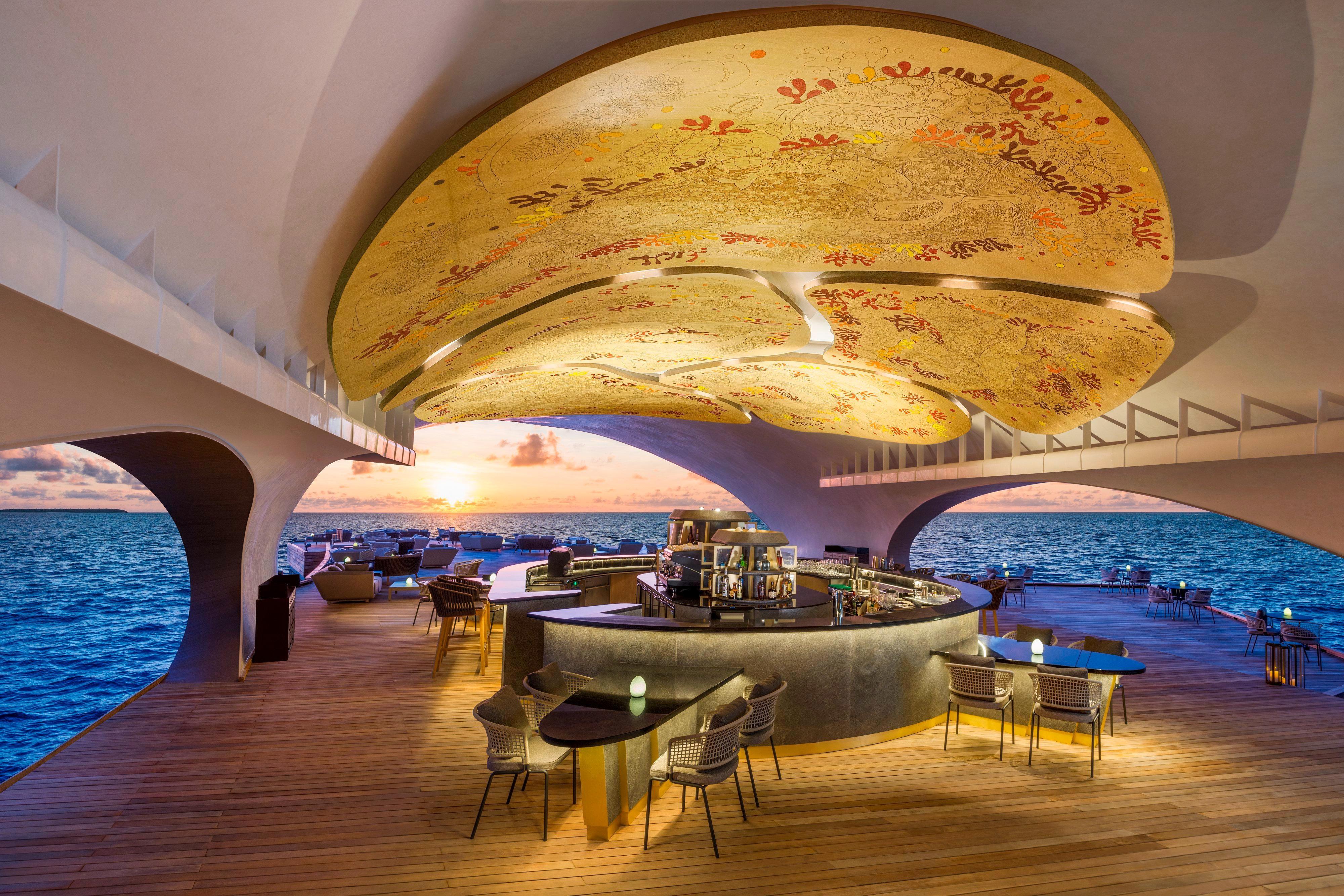 Whale Bar Mural and Bar