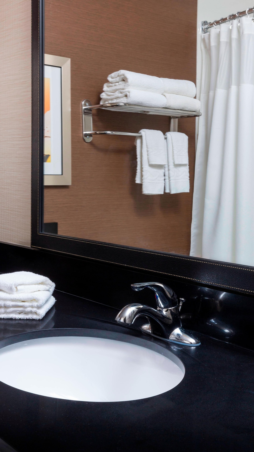 Guest bathroom with complimentary toiletries