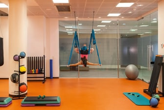 Fitness classes in Moscow hotel