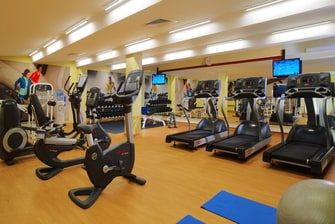 Fitnessstudio in Moskauer Hotels