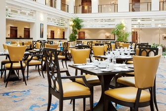 restaurant at Marriott Royal Aurora, Moscow