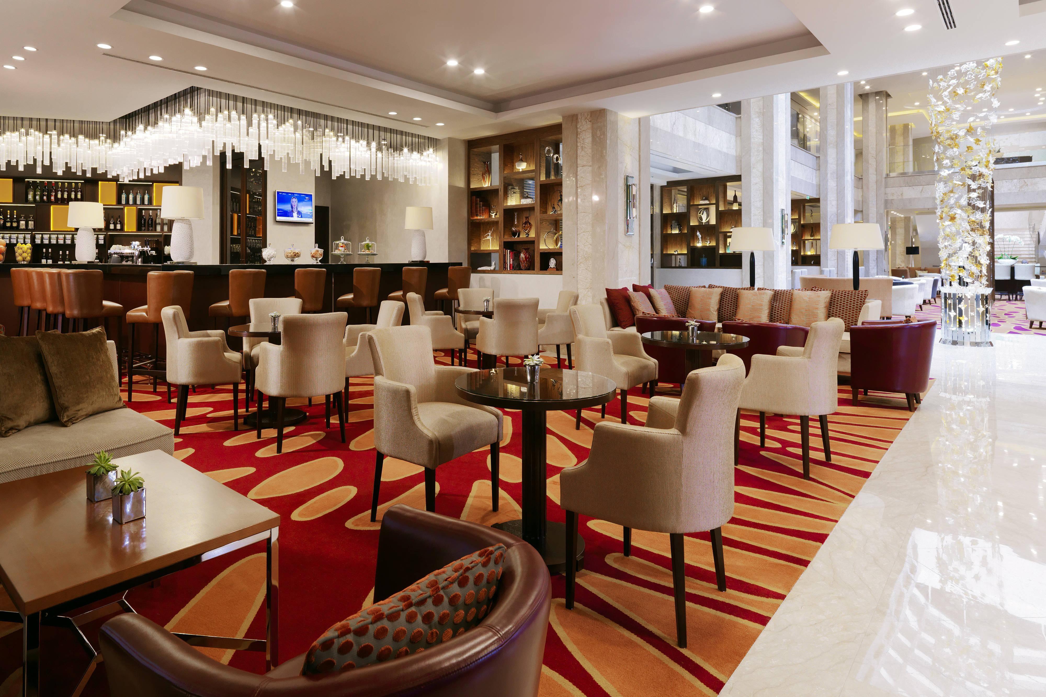 Moscow hotel lobby bar
