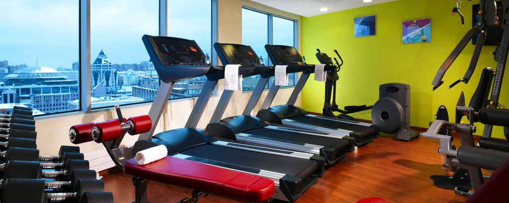 Fitness center dell'hotel di Mosca