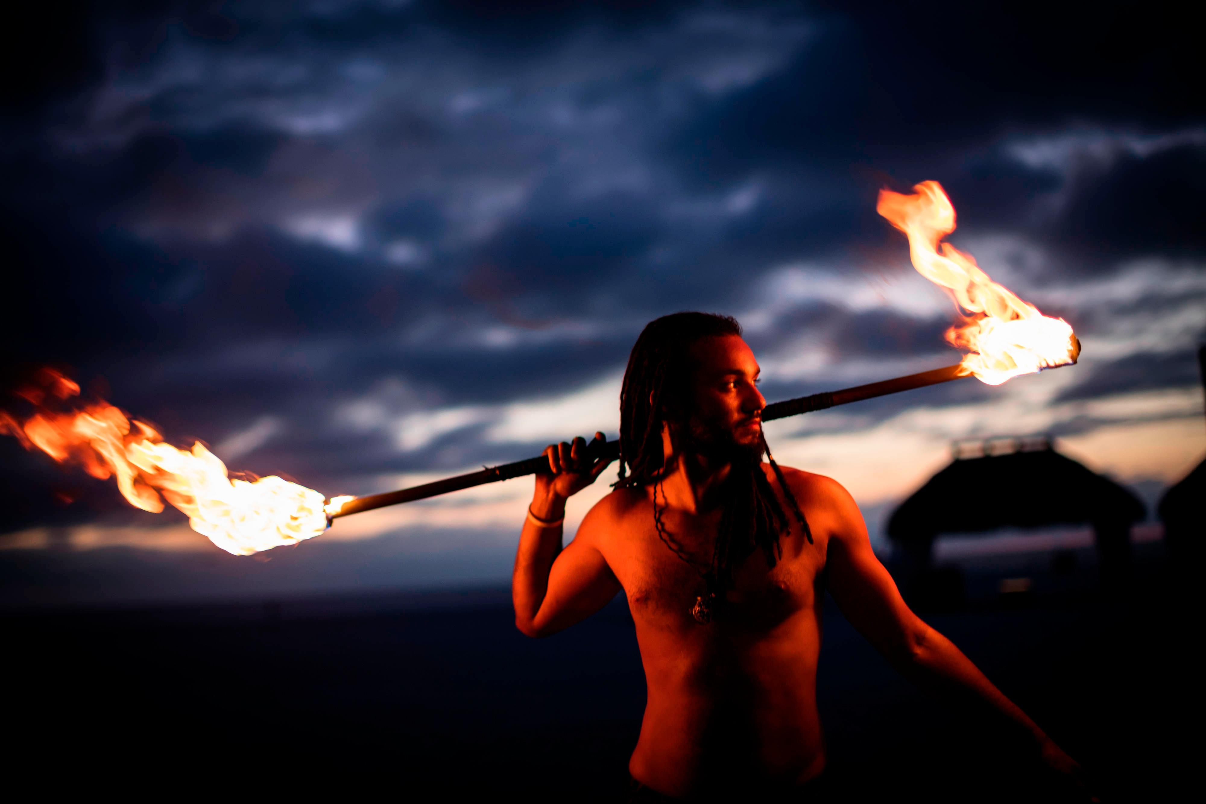 Sunset Celebration - Fire Dancer
