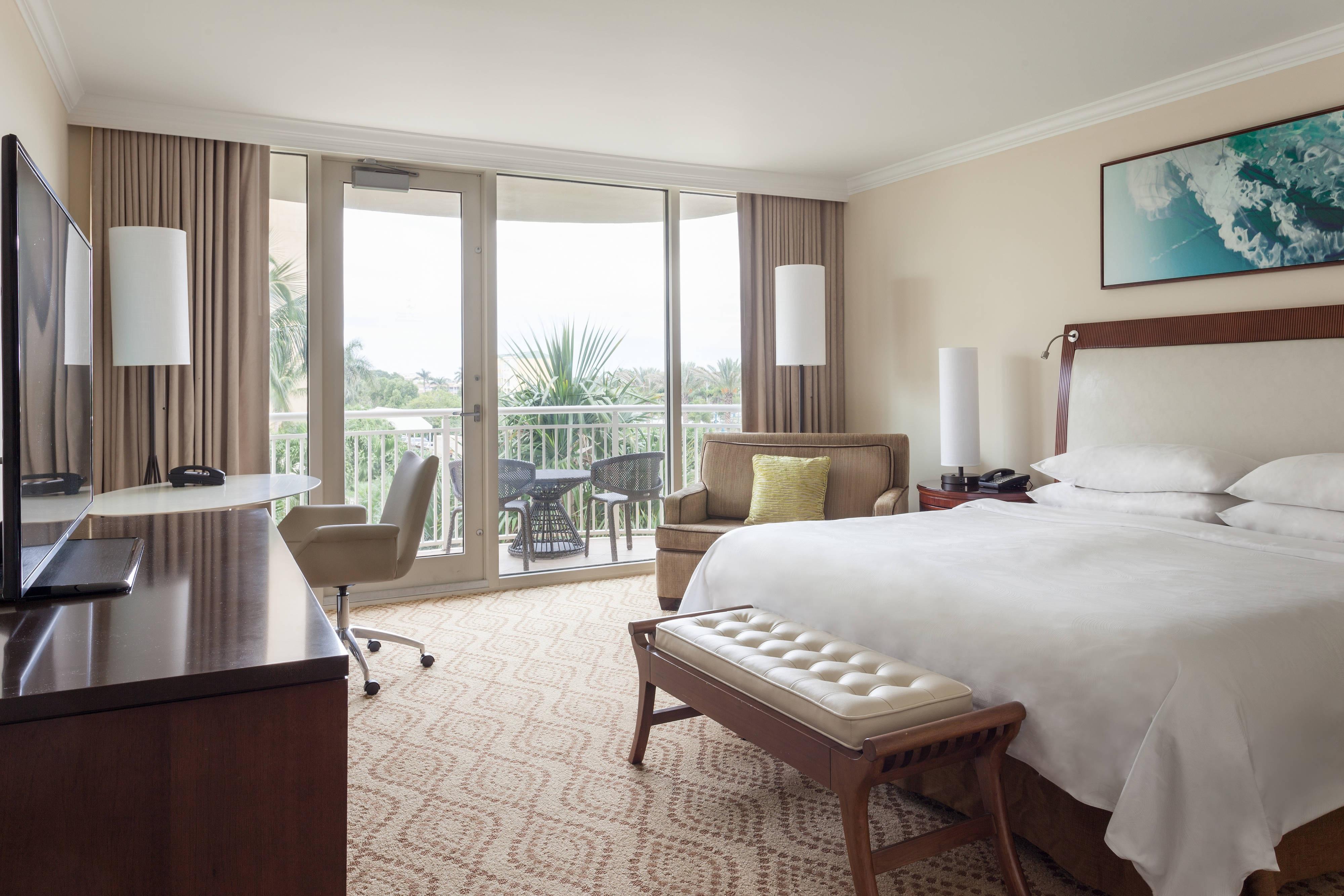 Chambre avec lit king size, sans vue sur la mer