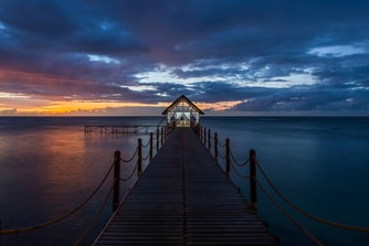Romantic Sunset over the Jetty