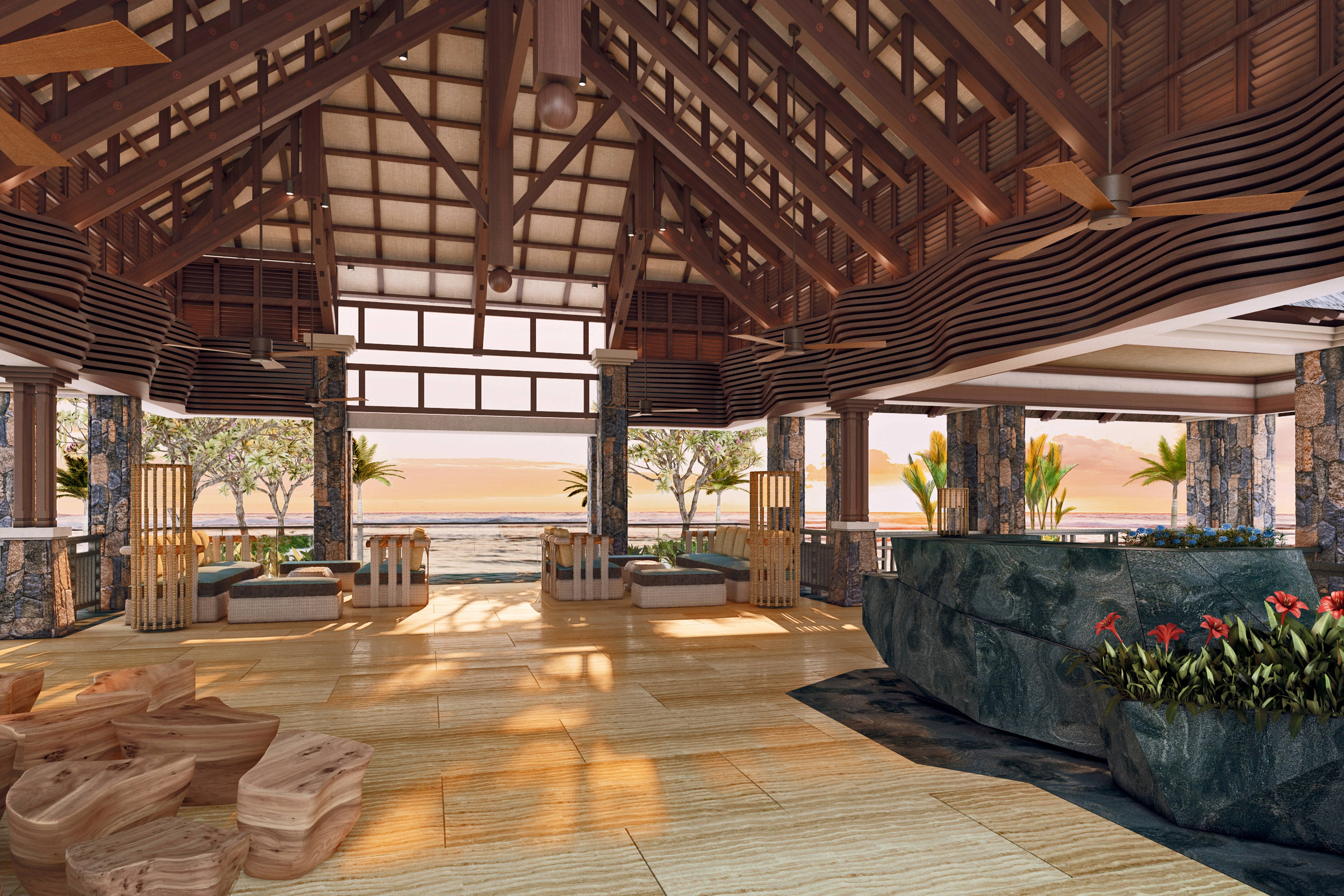 Lobby Architecture - Rendering