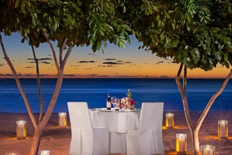 Private Dining on the Beach