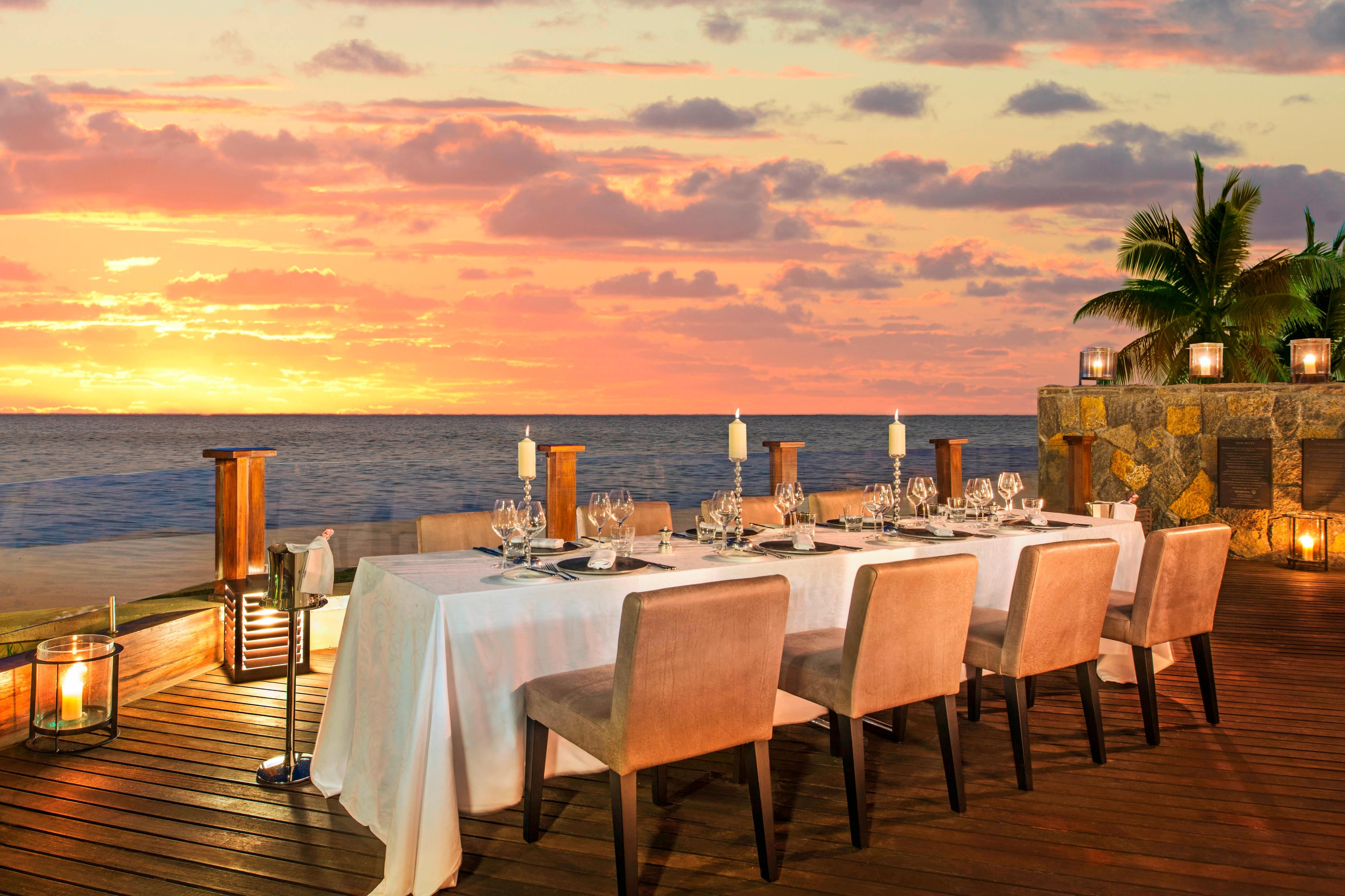 The St. Regis Villa - Dining on the Terrace