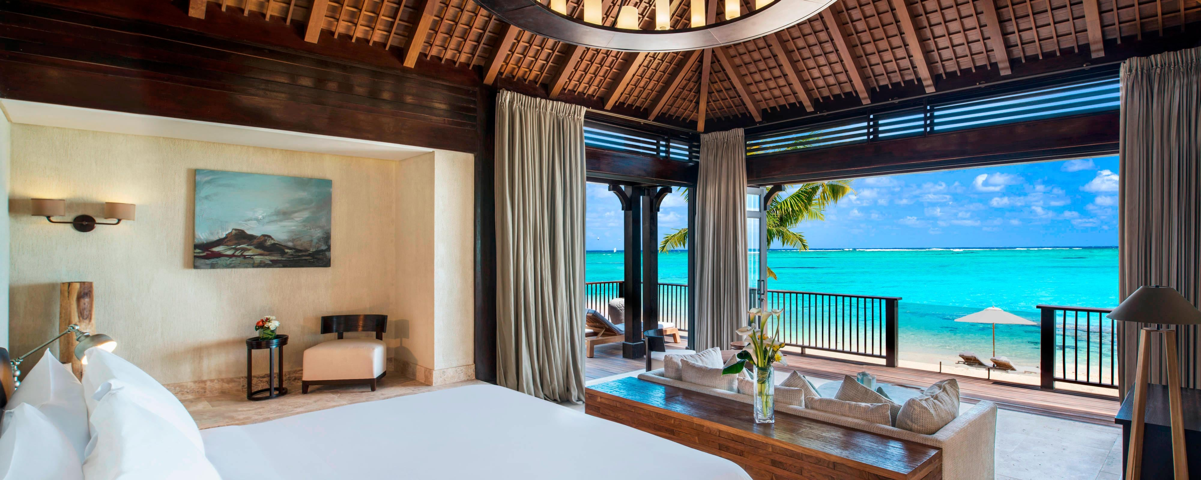 The St. Regis Villa Bedroom with View on the Lagoon