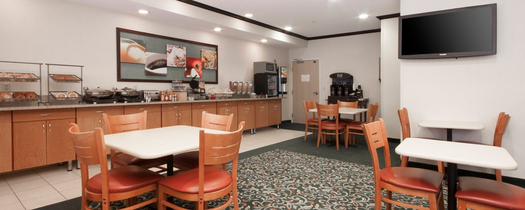 Desayuno gratis en el hotel de Coon Rapids