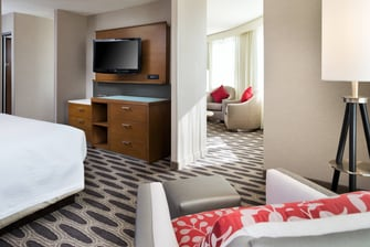 Downtown Minneapolis hotel king suite