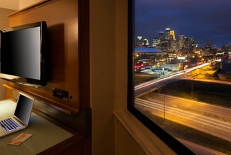 City view Minneapolis hotel room