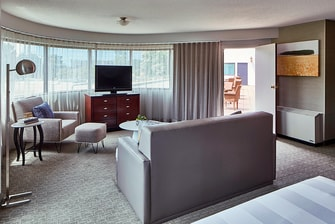King Suite with Balcony Seating Area