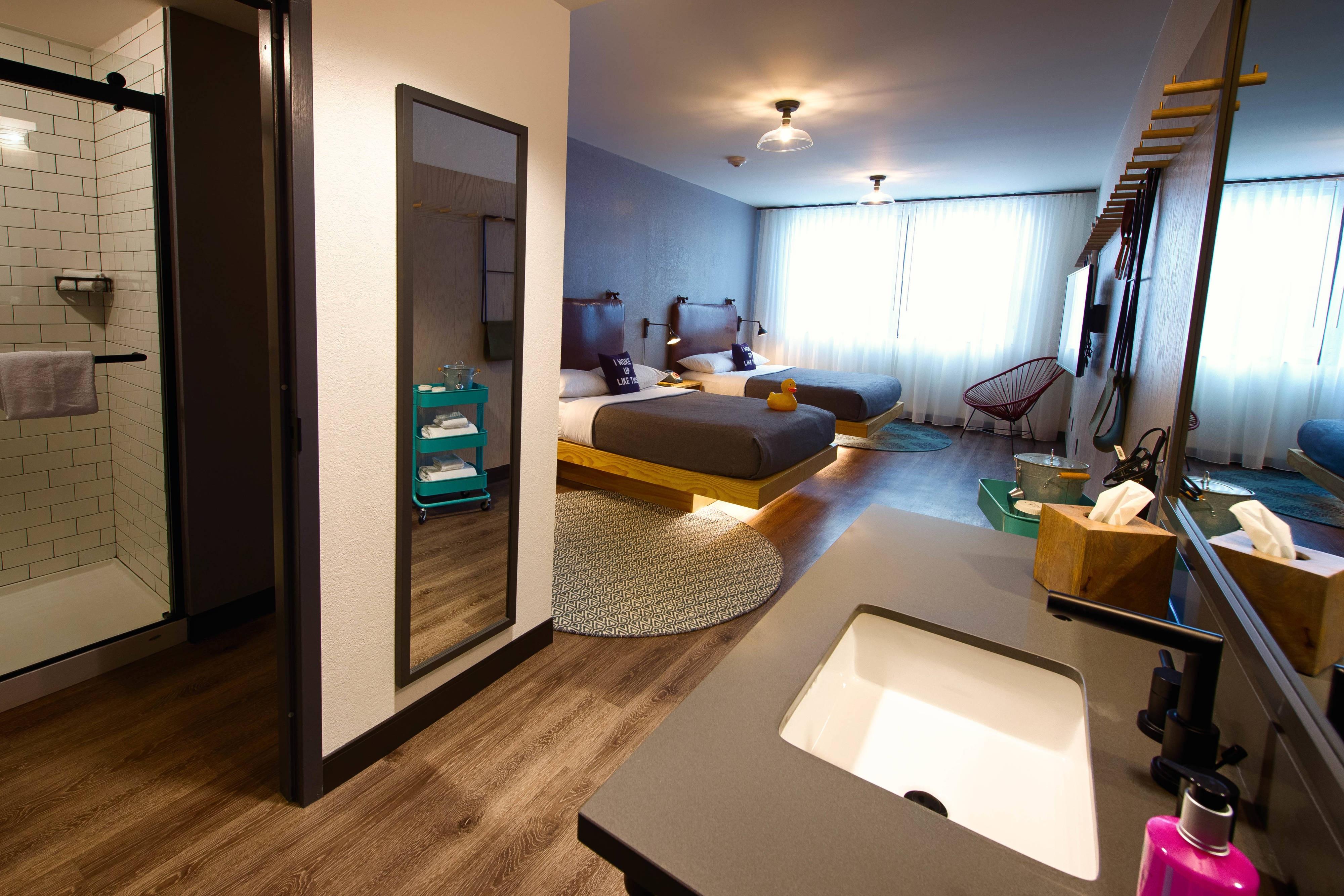 Chambre avec deuxlits doubles