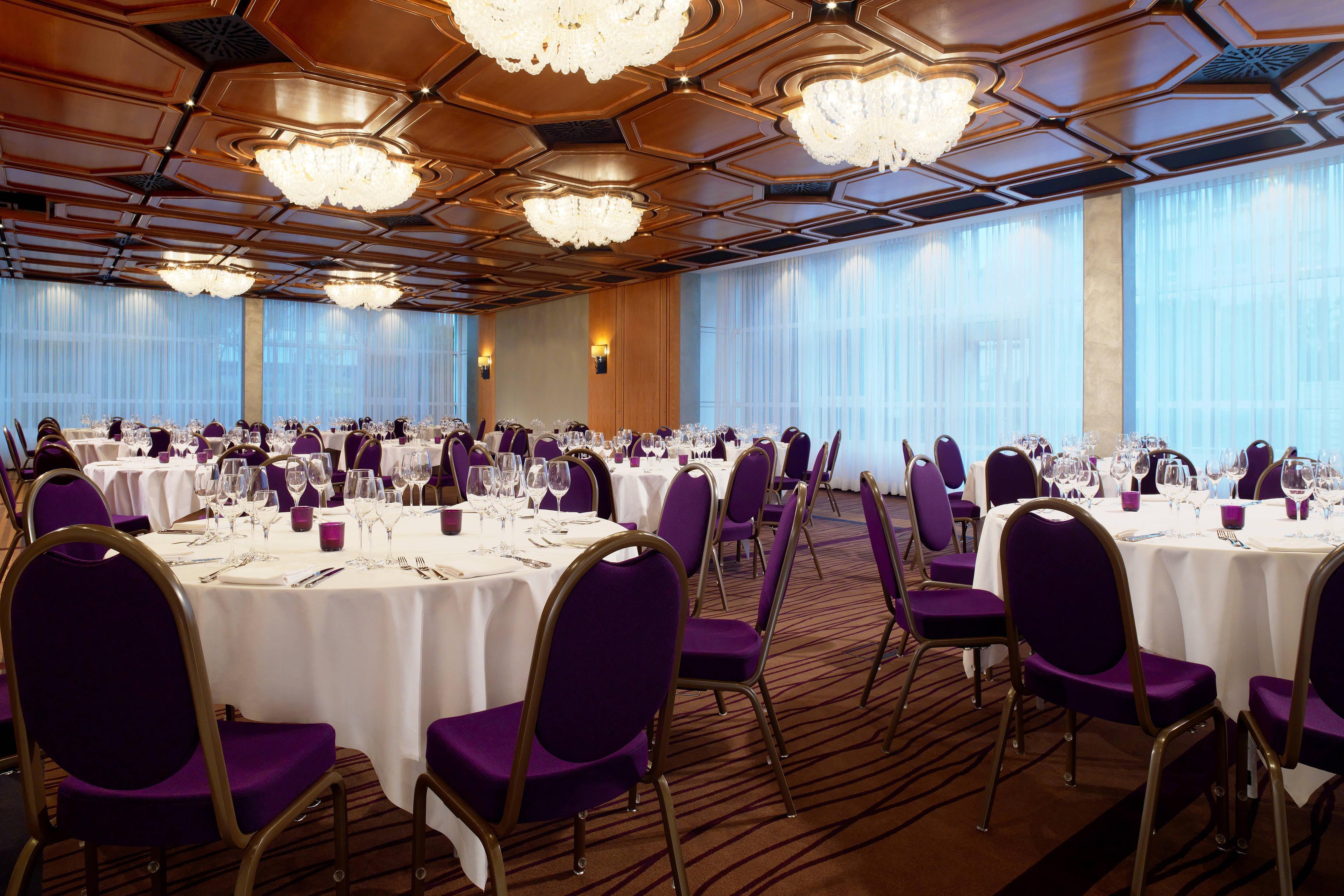 Banquete en la sala para reuniones Asam