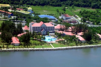 Miri Marriott Resort Aerial View
