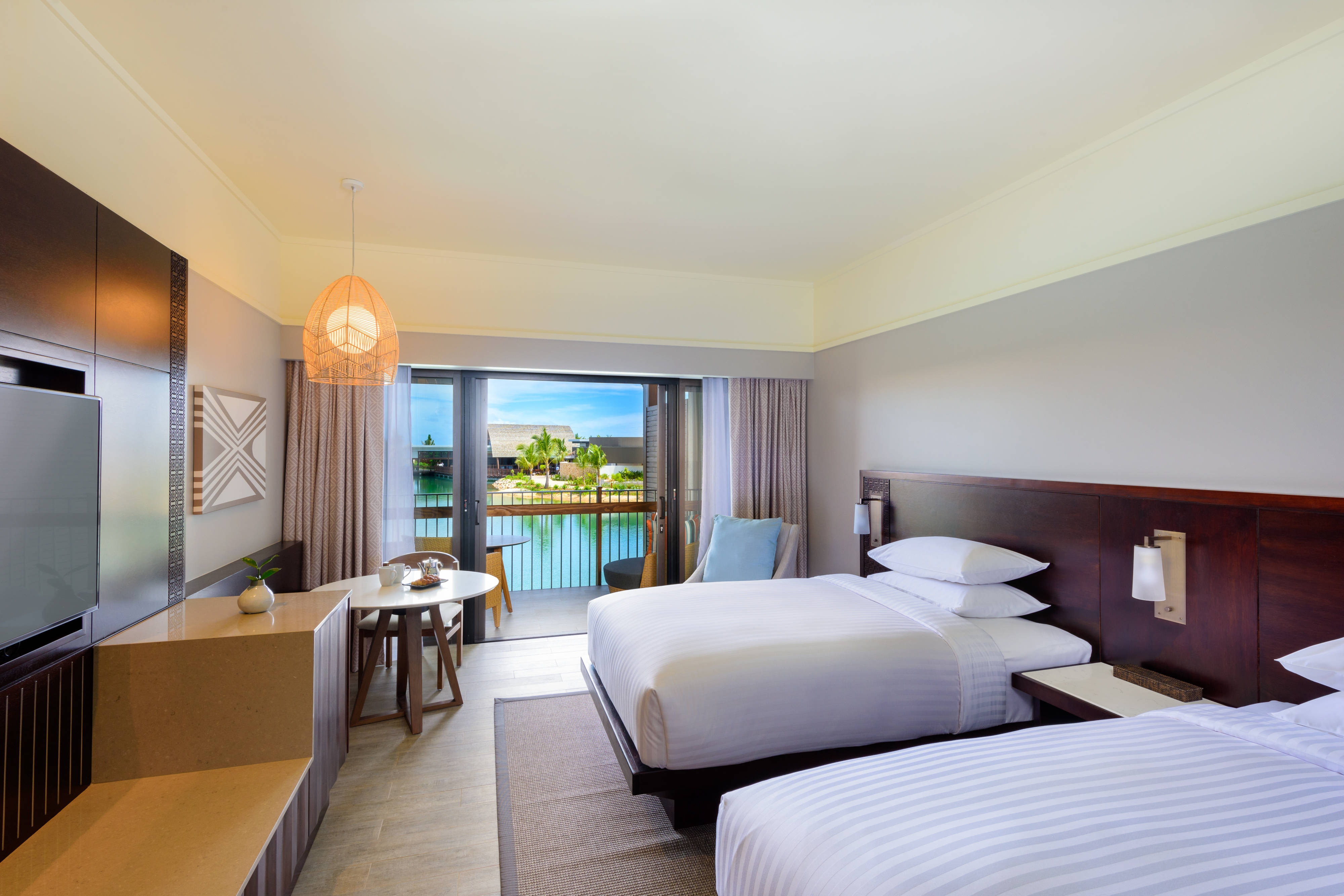 Double/Double Lagoon View Deluxe Guest Room