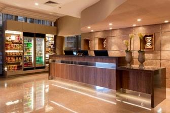 Nice beachfront hotel lobby