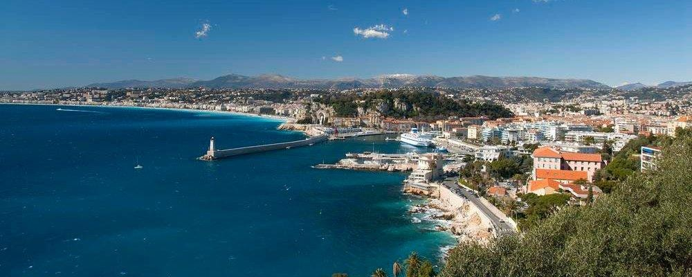 Vista do mar em Nice