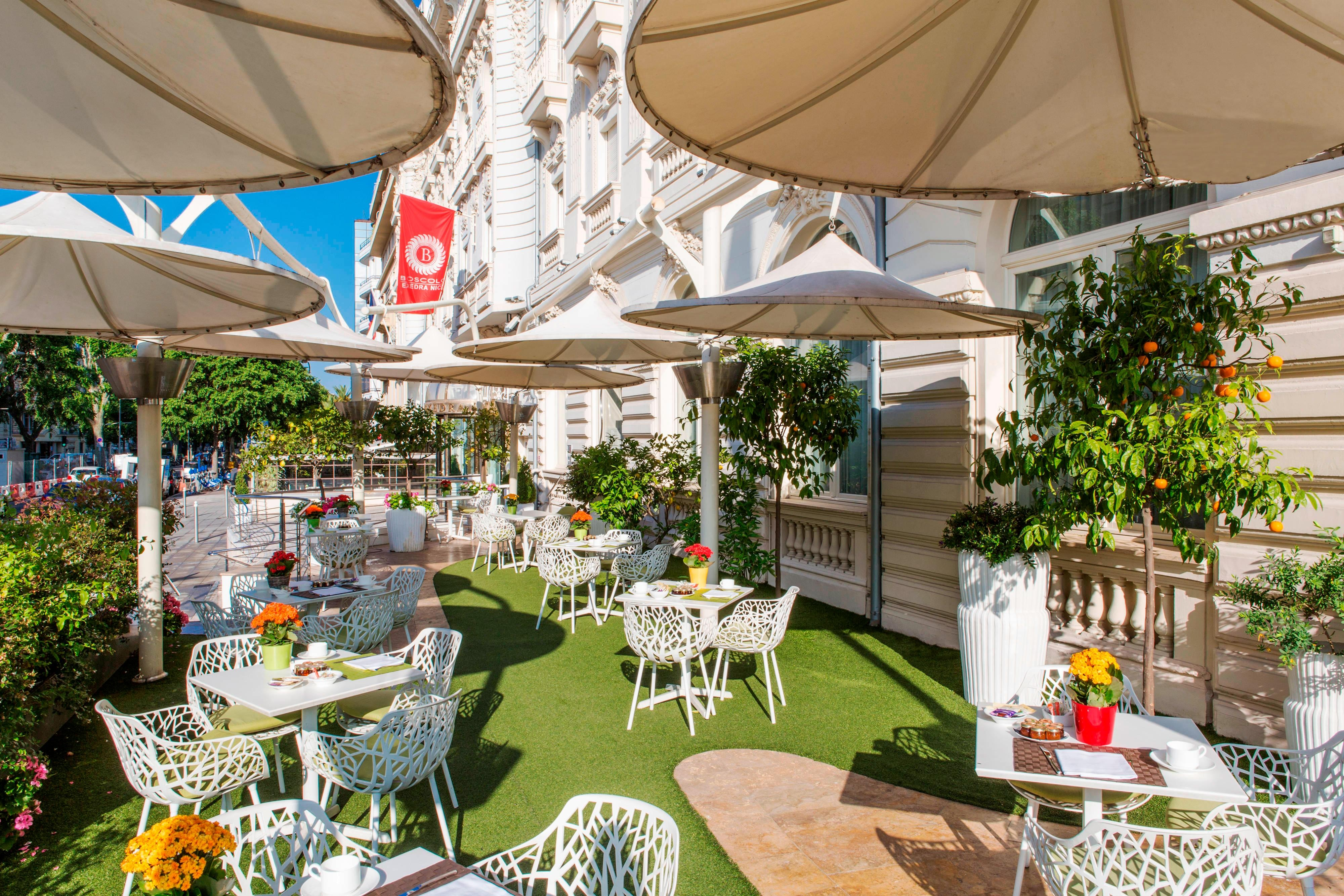Hotel bar terrace in Nice