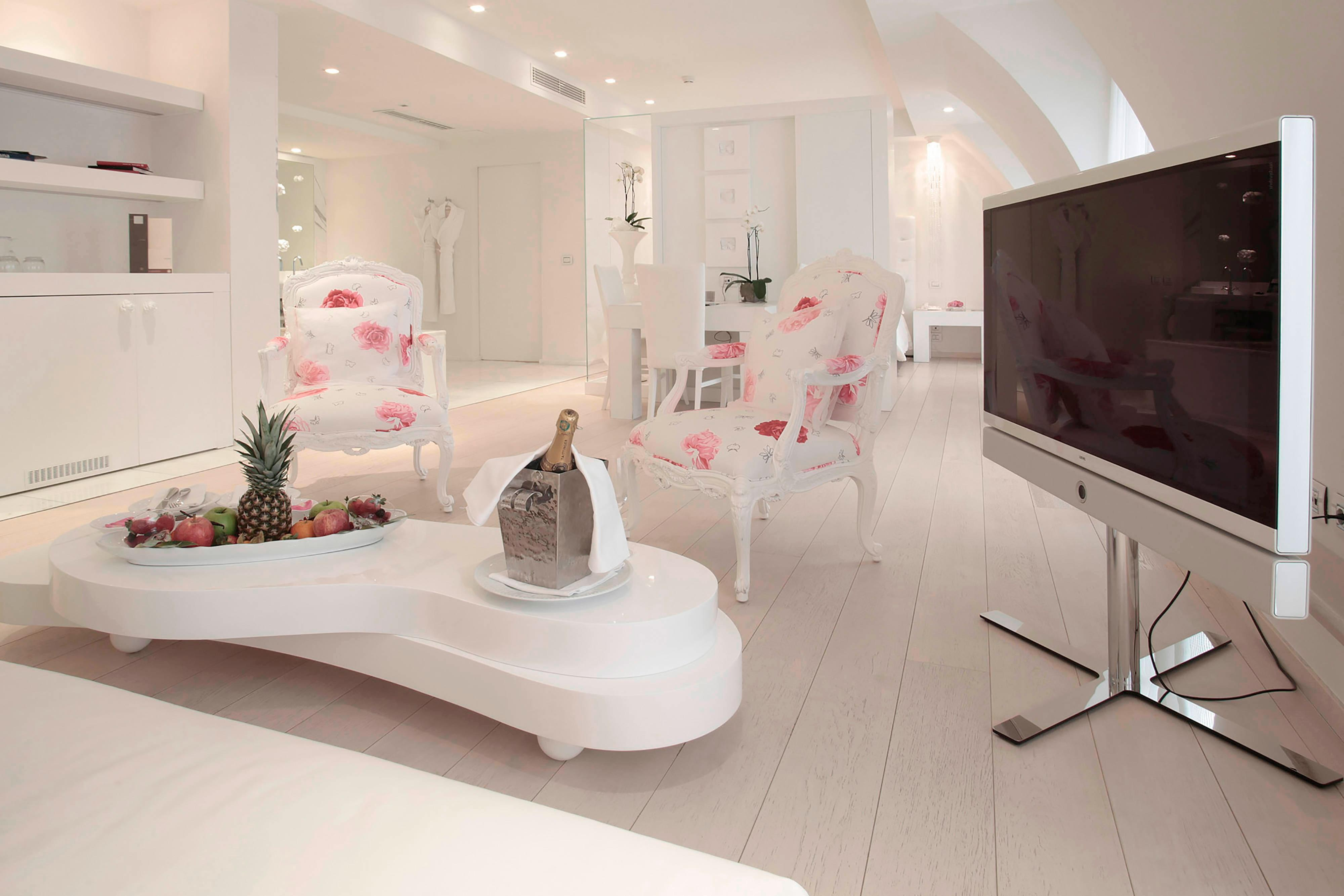 French Riviera luxury hotel suite
