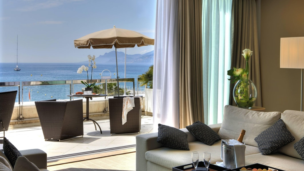 5 star Cannes hotel suite